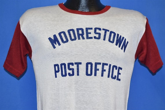 50s Moorestown NJ Post Office White Red Jersey Nyl
