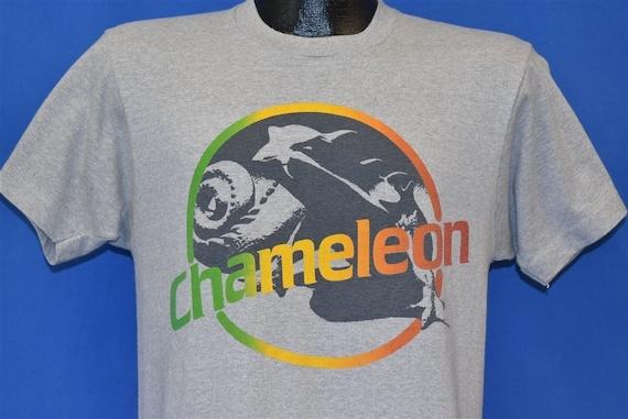 80s Chameleon Rainbow Print t-shirt Medium