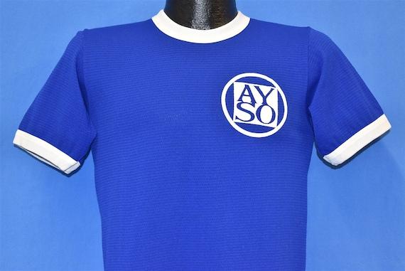 70s AYSO #8 Youth Soccer League Jersey t-shirt Sma