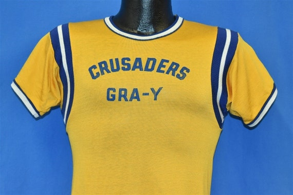 50s Crusaders Yellow Athletic Jersey #6 t-shirt Ex