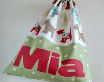 Personalised Bag, Gym Bag, PE Bag, Drawstring Bag, Children's Bag