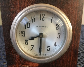 New Haven made in USA desk clock.