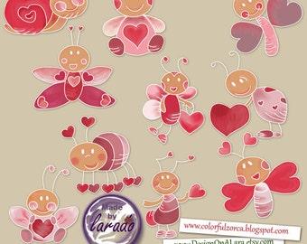 Valentine S Cupcakes Clipart Love Cupcakes Clip Art Etsy