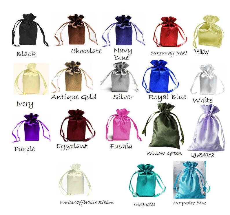 6x9 SATIN SELECT COLOR custom list 6x9 inch drawstring bags  d9deedea712e