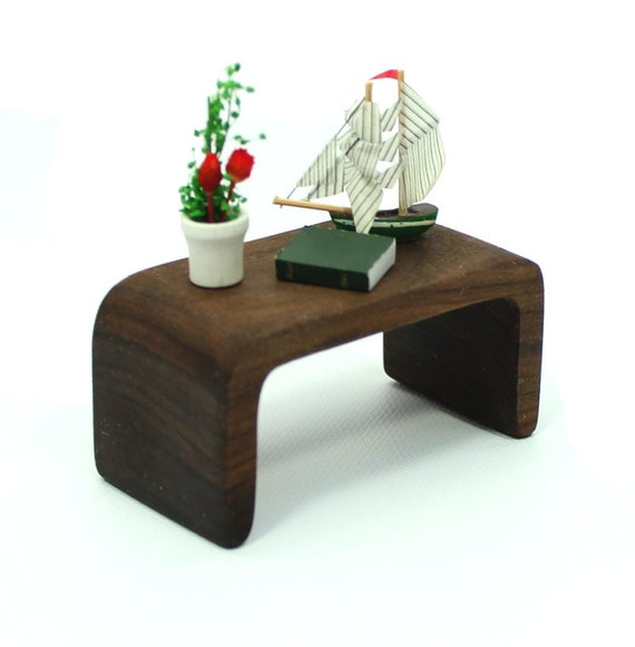Post Modern Furniture Miniature, Coffee Table, Walnut Furniture, Modern  Mini Furniture, Wood Table, Miniature Furniture, Mini Table