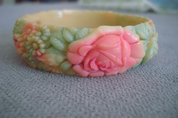 Vintage 1930s 1940s celluloid bracelet 30s 40s Ros