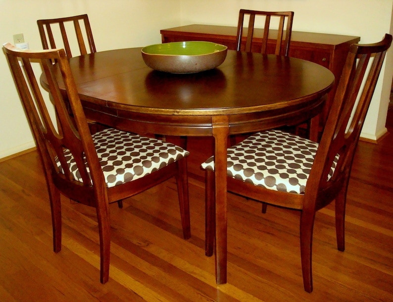 Sold Vintage Broyhill Brasilia Dining Chairs With Custom Etsy