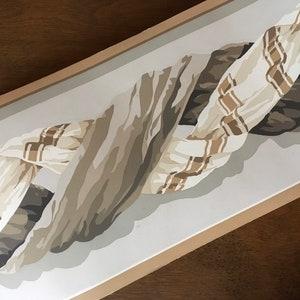 Vintage Handprinted Brunschwig and Fils Wallpaper Border Dauphin Woodgrain Pattern