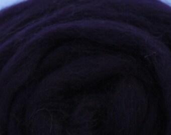 AUBERGINE PURPLE  - Merino Wool Roving 1/4oz, 1/2oz or 1oz