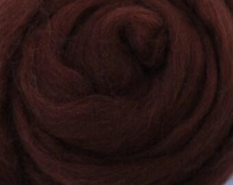 HAZELNUT Brown - Merino Wool Roving 1/4oz, 1/2oz or 1oz