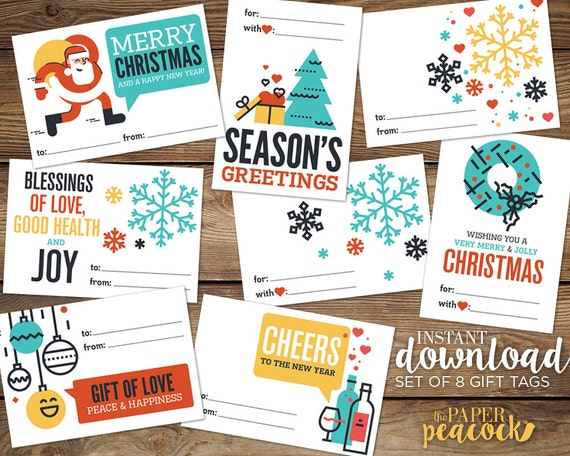 image relating to Printable Gift Tags Avery called 8 Xmas Present Tags -- Prompt Obtain Innovative Estimate Print Getaway Stickers, Avery Label Templates, 2-1/3\