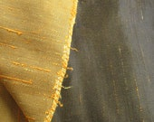 Faux Silk Dupioni Fabric Slubby Dark Brown Gold Pillows Upholstery 47.5 quot x 88 quot 2.44 Yards Reversible Vintage