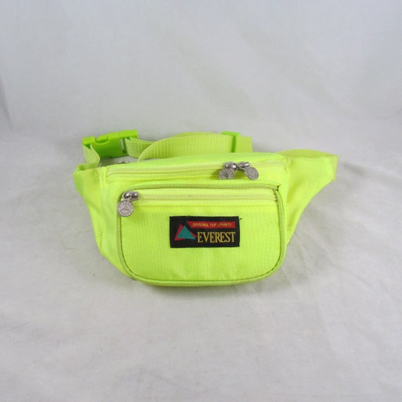 Neon Green Nylon Fanny Pack Everest Sports Vintage