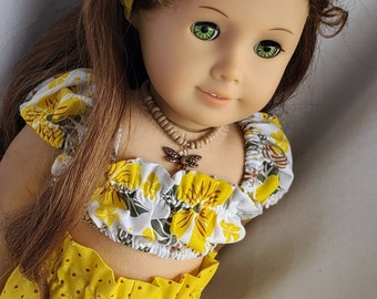 American Girl Doll Clothes Little Aloha Short Set 18 inch Dolls for American Girl Doll and Similar Dolls.