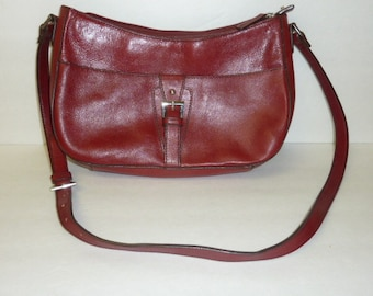 95bc88c0be43 Vintage Etienne Aigner Leather Purse Genuine Red Leather Shoulder Bag