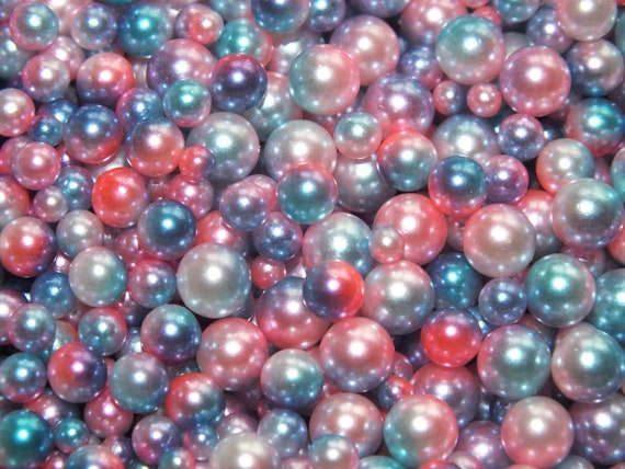 50g Mixed 3,4,5,6mm Caviar Pearl Beads No Hole Rainbow Mermaid Ombre CHOOSE COL
