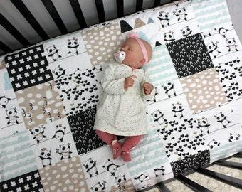 d99382778456 Panda Bear Baby Girl Bedding