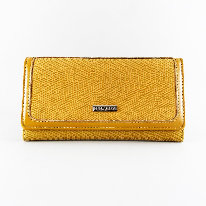 ac5c4997 Billetera CALA de Cuero amarilla billetera cuero mujer | Etsy