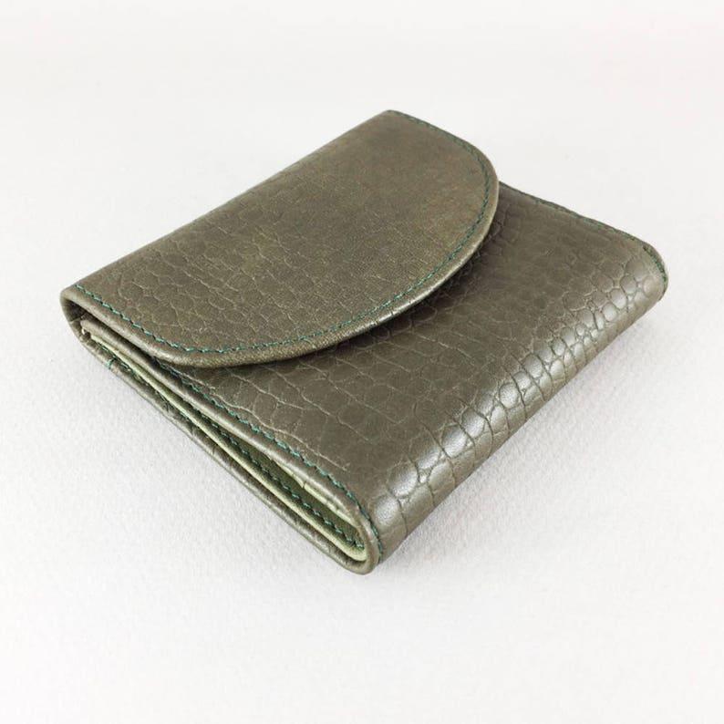2b206c6c94cf4 Zielony portfel damskie małe skórzany portfel portfel skóra   Etsy