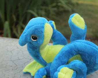 Sour Ball the baby Dragon, charteruse and teal
