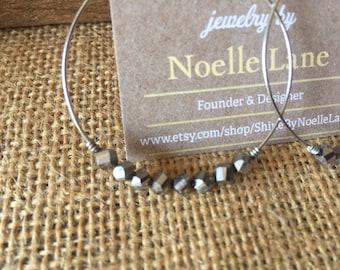Signature Noelle - Silver Hoops