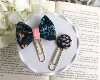 Rifle Paper Co Garden Navy Fabric Paper Clips