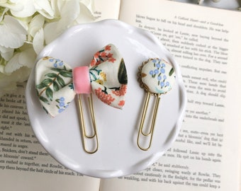 Rifle Paper Co Garden Natural Fabric Paper Clips