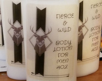 Fierce And Wild Cologne Body Lotion For Men, Shea Butter Body Lotion For Men,Fragrance Oil Cologne Hand Cream,Body Oil Fragrance Body Lotion