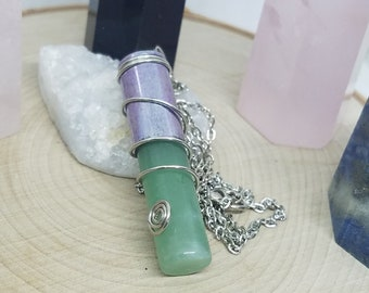 Aventurine Crystal Bullet Necklace,Aventurine Bullet Necklace,Aventurine Bullet Jewelry,Green Aventurine Crystal,Aventurine Crystal Necklace