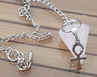 Rose Quartz Pendulum, Rose Quartz Chakra Pendulum, Rose Quartz Crystal Healing, Rose Quartz Pendulum Crystal, Pendulum Crystal Points