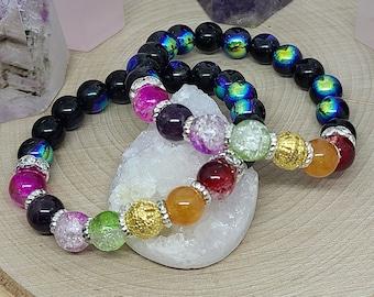 7 Chakra Bracelet, Empath Protection Bracelet, Reiki Healing Pride Bracelet, Empath Protection Anxiety Bracelet, Reiki Healing Jewelry