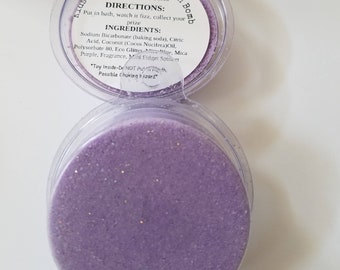KIDS SURPRISE INSIDE Grape Fusion Bath Bombs, Grape Scented Toy Glitter Bath Bombs For Kids