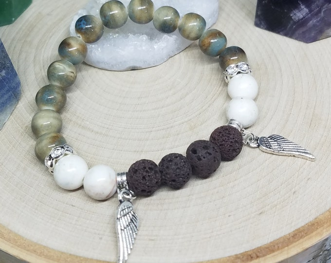 Featured listing image: Lava Stone Bracelet, Lava Stone Diffuser Bracelet, Lava Stone Diffuser Jewelry, Anxiety Bracelet, Essential Oils Anxiety Relief