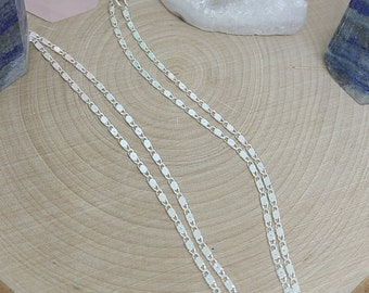 Sterling Silver Necklace, Sterling Silver Chain, Sterling Silver Curb Chain, Sterling Silver Jewelry, Sterling Silver Snake Chain