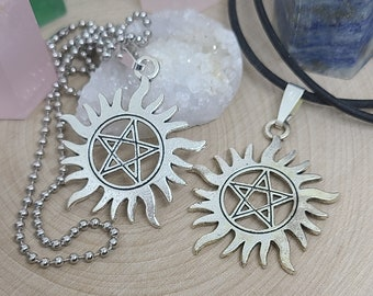 Supernatural Gothic Choker Necklace,Supernatural Dean Winchester,Supernatural Gothic Necklace,Supernatural Protection Amulet,Wiccan Necklace