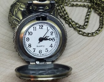 HORSE POCKET WATCH  Necklace, Horse Pendant Watch Jewelry