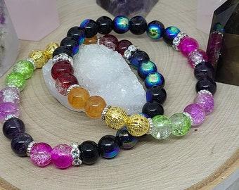 7 Chakra Bracelet, Empath Protection Healing Bracelet, Stretch Bracelet Healing Jewelry, Empath Protection Bracelet, Anxiety Bracelet