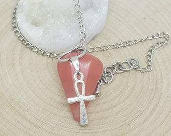 Fire Agate Crystal Pendulum,Carnelian Stone Pendulum Crystal,Agate Stone Crystal Pendulum,Crystal Pendulum Dowsing,Wicca Altar Psychic Tool