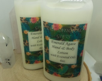 Emerald Agave Body Lotion, Botanical Lotion, Shea Butter Lotion, Botanical Body Cream, Dry Skin Hand Cream, Emerald Agave Homemade Lotion