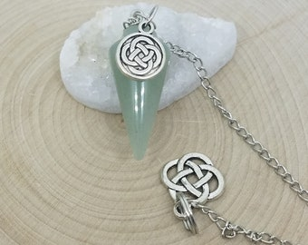Green Aventurine Crystal Pendulum, Aventurine Crystal Pendulums, Manifestation Chakra Pendulum, Aventurine Shamanic Tools