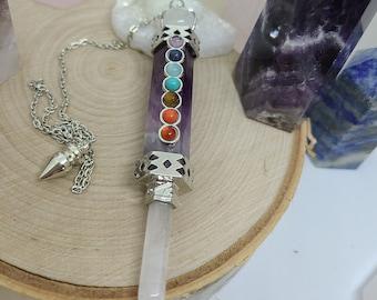 Amethyst Crystal Pendulum, Amethyst Point Pendulum, Amethyst Pendulum, Amethyst Dowsing Pendulum, Amethyst Pendulum Crystal,Scrying Pendulum