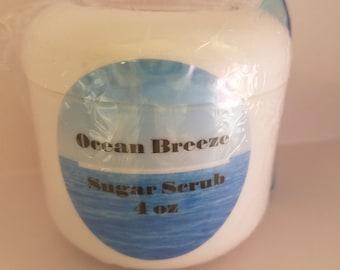 Ocean Essential Oil Scrub, Ocean Sugar Scrubs, Ocean Breeze Sugar Scrub, Ocean Body Scrub, Ocean Anxiety Relief Skincare,Essential Oil Scrub