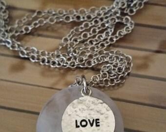 Quartz Crystal Healing Stone Necklace, Quartz Crystal Healing Boho Necklace, Crown Chakra Pendant Necklace, Empath Protection Necklace