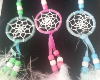 Dream Catcher Key Chains, Native Art Feather Key Chains