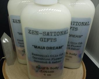 Maui Dream Coconut Lotion, Essential Oil Body Lotion, Maui Dream Healing Cream, Bath And Beauty Skincare, Essential Oil Coconut Lotion