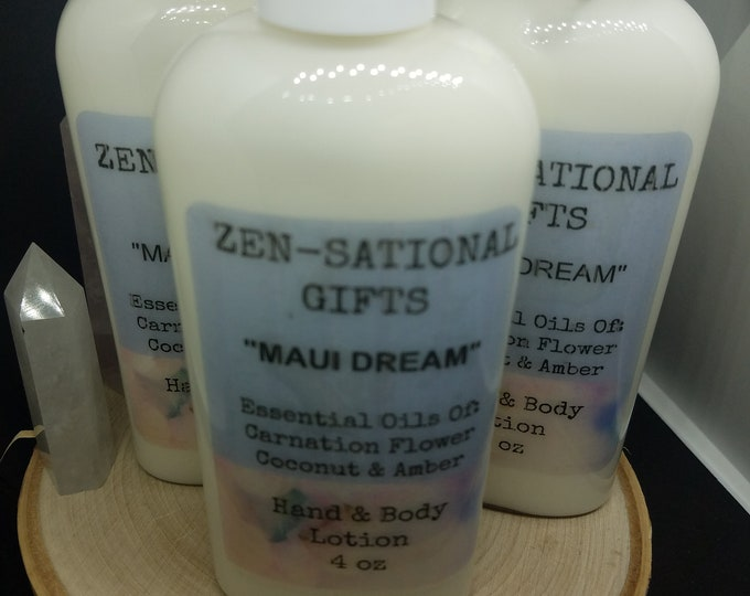 Featured listing image: Maui Dream Coconut Lotion, Essential Oil Body Lotion, Maui Dream Healing Cream, Bath And Beauty Skincare, Essential Oil Coconut Lotion