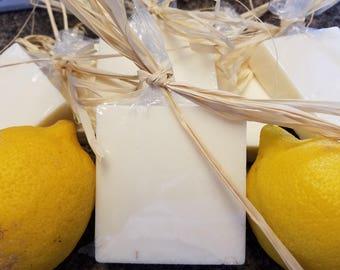 Lemon Grass Goats Milk Soap, Lemon Dry Skin Soap, Essential Oil Artisan Soap, Lemon Goat Milk Soap, Essential Oil Soap,Lemon Grass Hand Soap