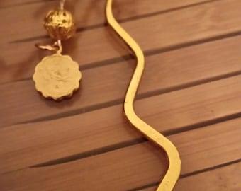 Virgo Zodiac Bookmark, Virgo Zodiac Gold Bookmark,Virgo Birth Sign Book Mark Jewelry,Gold Charm Virgo Bookmark,Gold Charm Astrology Bookmark