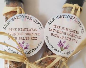 Pink Himalayan Lavender Bath Salts,Lavender Scented Bath Salts,Essential Oil Bath Salts,Epsom Bath Salts,Pink Himalayan Salt Scrubs