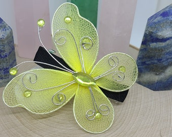 YELLOW BUTTERFLY Hair Clips, Fashion Hair Accessories, Hair Style Fashion For Girls, Butterfly Hair Bows Hair Clips Hair Pins, Holiday Gifts